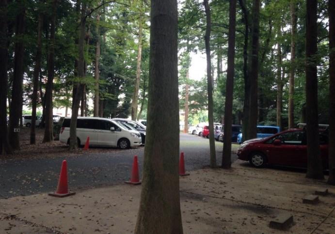 21世紀の森と広場の北口駐車場